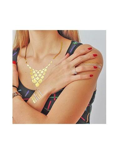 TTTatto Conjoint de colliers et bracelets - Or