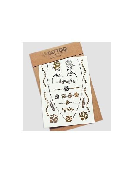 TTTatto Set Floral - Oro