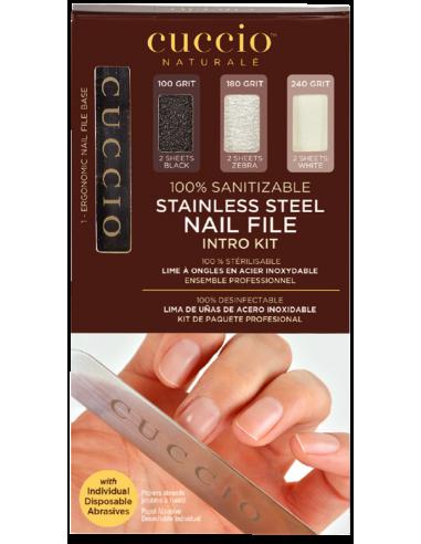 Cuccio Naturalé Lima Manicure in acciaio inox Intro Kit