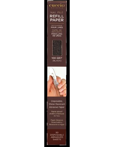 Cuccio Naturalé Recharges de papier abrasifs 100 grains noir