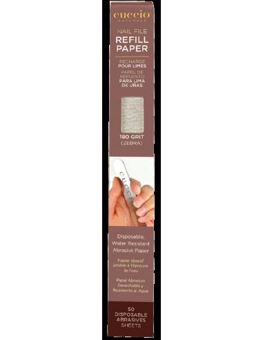Cuccio Naturalé Manicure zebra 180 grit abrasive paper refills