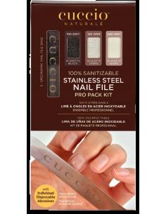 Cuccio Naturalé Lime à ongles en acier inoxydable Pro Pack Kit