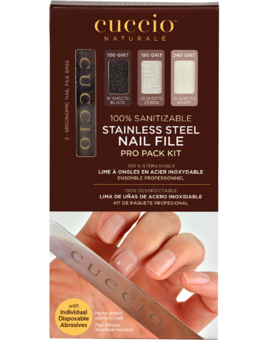 Cuccio Naturalé Manicure Stainless Steel File Pro Pack Kit
