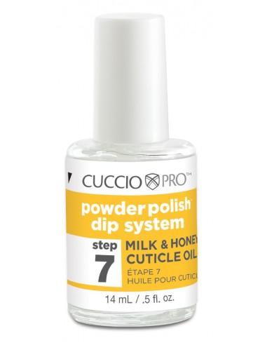 Cuccio Pro Powder Polish - Nagelhautöl Milch & Honig - Step 7