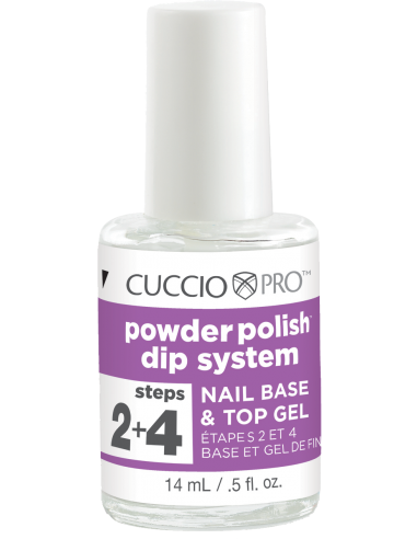 Cuccio Pro Powder Polish - Nail Base & Top Gel - Step 2+4