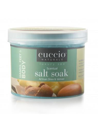 Cuccio Naturale Scentual Salt Soak Artisan Shea & Vetiver