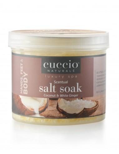 Cuccio Naturale Scentual Salt Soak Coconut & White Ginger