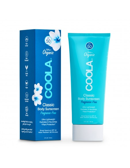 Coola Classic Body Organic Lotion SPF50 - Fragrance Free 148ml