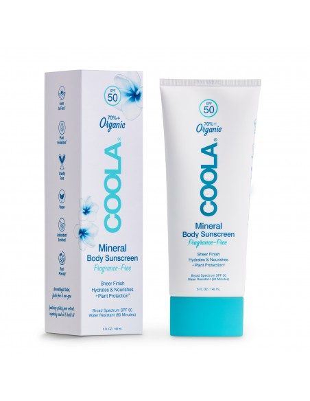 Coola Mineral Body Organic Sunscreen Lotion SPF50 - Fragrance Free 148ml