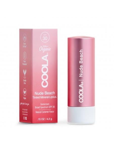 Coola Mineral Liplux Organic Tinted Lip Balm Sunscreen SPF30 - Nude Beach
