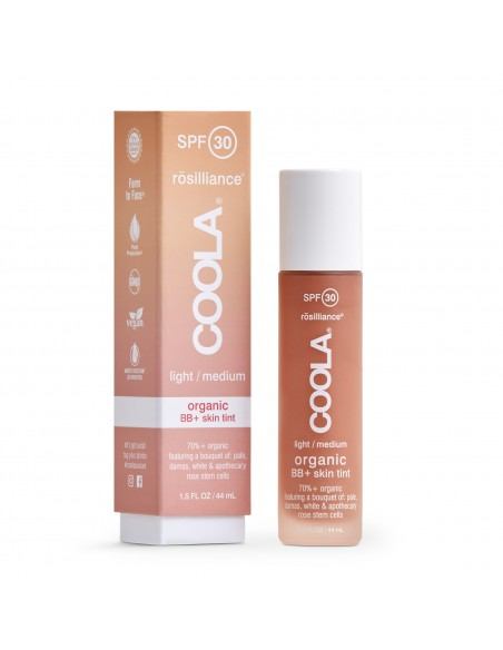 Coola Rosilliance Mineral BB+ Cream Tinted Organic Sunscreen SPF 30 - Light/Medium