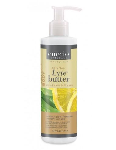 Cuccio Naturalé Lyte Butter Lotion White Limetta & Aloe Vera-237ml