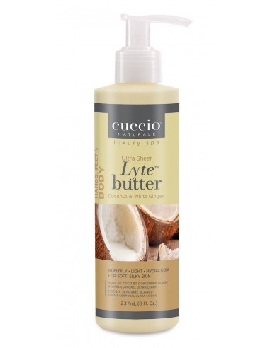Cuccio Naturalé Lyte Butter Lotion Coconut & White Ginger-237ml