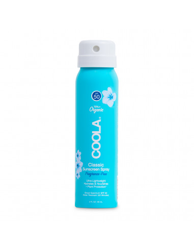 Coola Classic Body Organic Sunscreen Spray SPF50 - Fragrance Free Travel Size