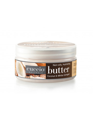 Cuccio Naturalé Hydrating Butter - Coconut & White Ginger 226gr