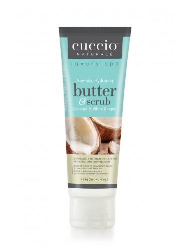 Cuccio Naturalé Burro Idratante ed Esfoliante - Coconut & White Ginger