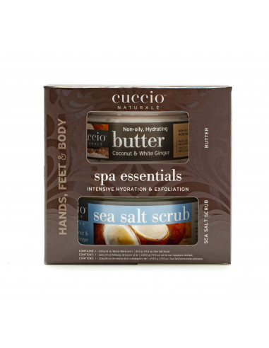 Cuccio Naturalé Spa Essentials Kit - Coconut & White Ginger