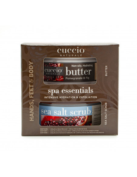 Cuccio Naturalé Spa Essentials Kit - Pomegranate & Fig